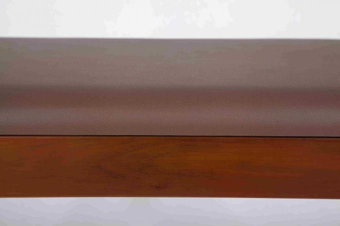 4.6KG Soild Modern Wood Furniture Walnut Shoe Storage Bench With PVC Leather