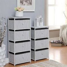 China Daily Necessities Bedroom Storage Units , CE Storage Shelving Units With Fabric Drawer supplier