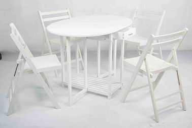 Garden Wooden Outdoor Furniture Folding Table And Chairs For Entertaining Space