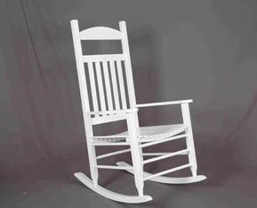 China White Rocking Chair Wooden Outdoor Furniture Hollow Design For Relaxing supplier