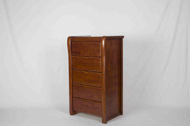 Elegant Solid Wood Bedroom Furniture , Walnut Bedside Table Space Saving