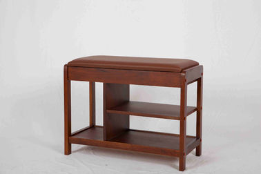 China Lightweight 3 Shelves Entryway Bench With Shoe Storage / Hidden Drawer supplier