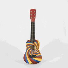 Children Soild Wood Ukulele Musical Toys , Kids Musical Instruments With Accessories