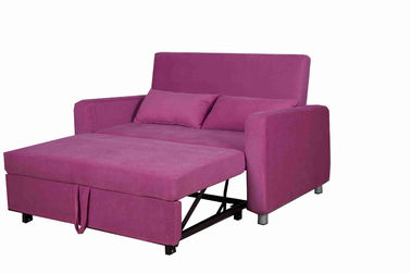 Adjustable Footrest Home Convertible Sofa Bed Upholstered Two Pillow With Cup Holders
