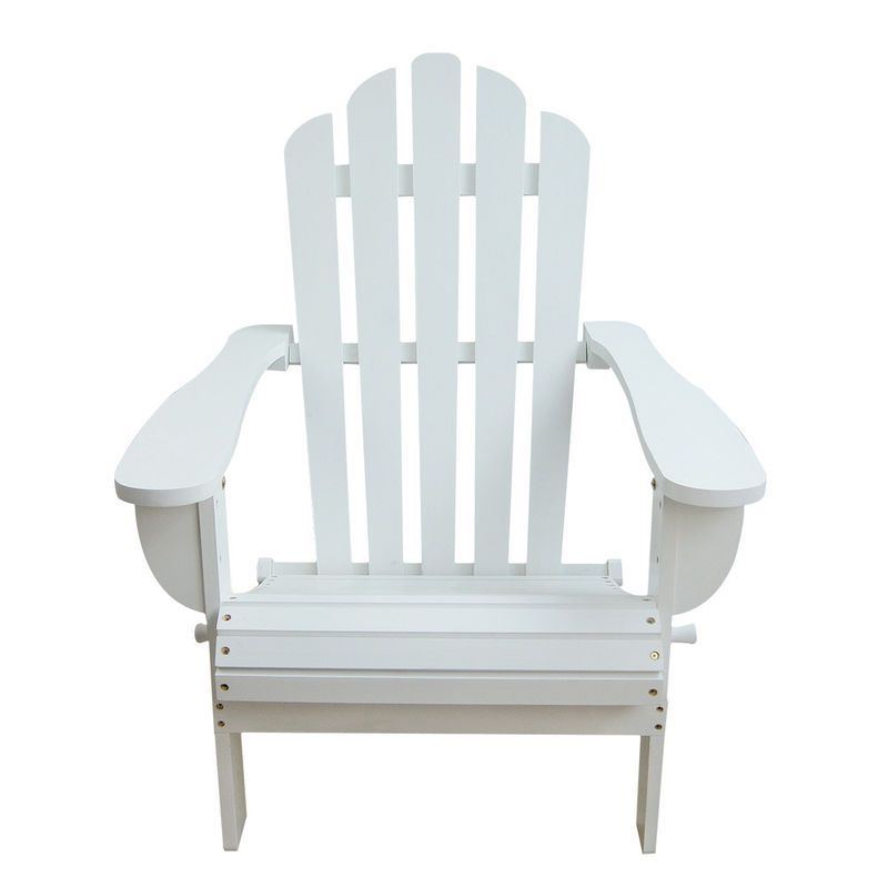 China White Soild Wooden Outdoor Furniture Beach Lounge Chairs For Balcony  Lights Supplier