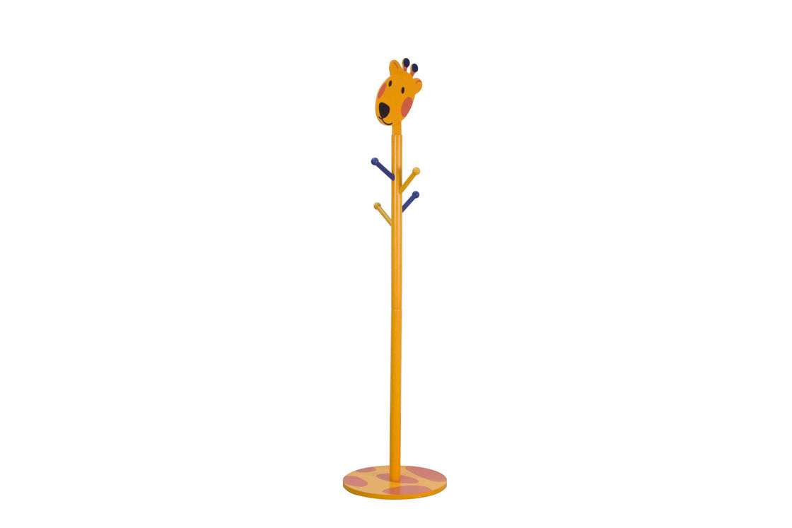 Cartoon Wooden Children'S Coat Stand , 135 Cm Kids Hat Stand For Playroom