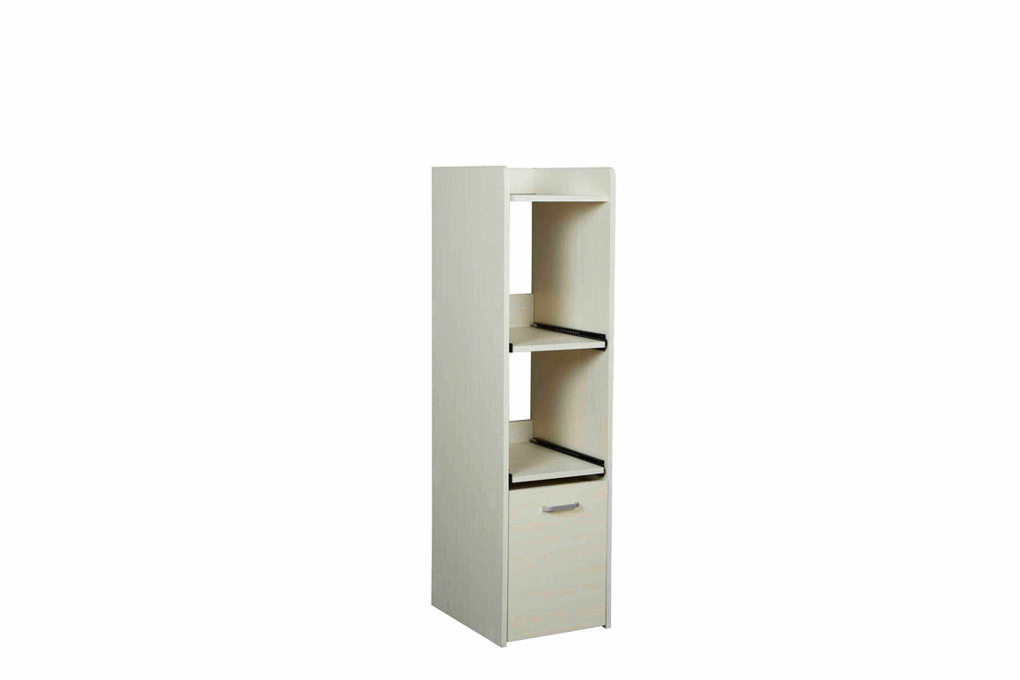Multi Function Wooden Home Storage Shelves Slim Narrow Size