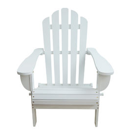 White Soild Wooden Outdoor Furniture Beach Lounge Chairs For Balcony Lights