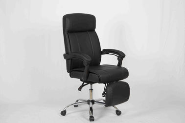 China Multi function Home Office Computer Chair PVC Leather High Back Recliner With Footest factory