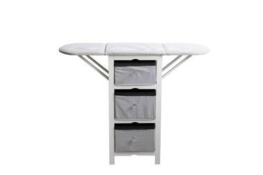 Practical Modern Wood Furniture Fabric Foldable Ironing Board Cabinet White