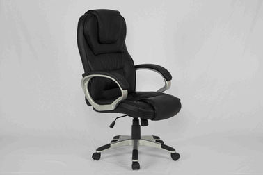 China Ergonomic Black Executive Leather Office Chair Comfortable With High Back factory
