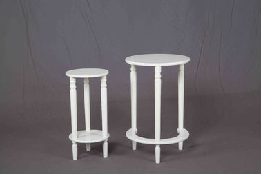 White Nesting Soild Wooden Occasional Tables 	MDF For Saving Space Balcony